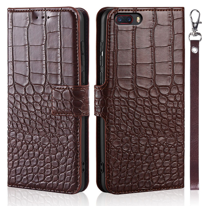 Phone Case for ZTE Nubia M2 Case Wallet Crocodile Texture Leather Book Design Phone Coque Capa With