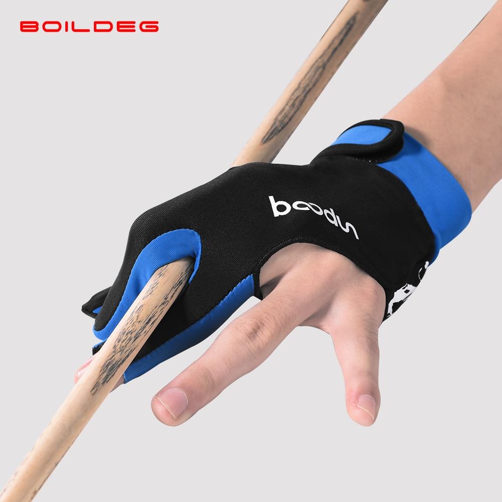 1PCS Billiard Three Finger Billiard Gloves Pool Snooker Glove Cue Sports Glove Men Women Left and Right Hand Billiard Accessorie