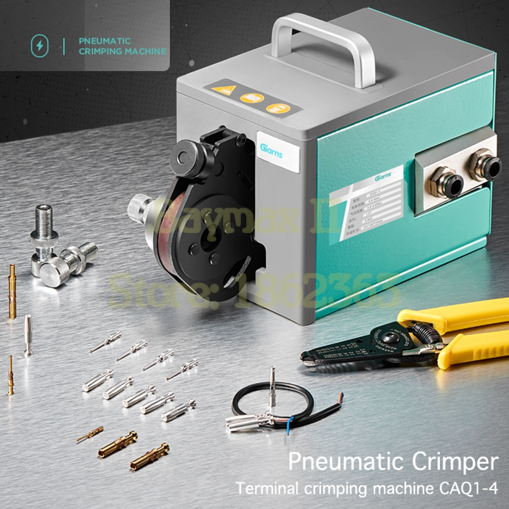 Pneumatic aviation pin crimping tool 0.5-6mm2 cold terminal GNQ1-4 four-Indent heavy-duty connector crimping machine