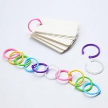 1 Box Colored Easy Ring Plastic Binder Snap Calendar Rings for Loose Leaf Paper Cards Photo Album Menu Book 1 inch Random Colors