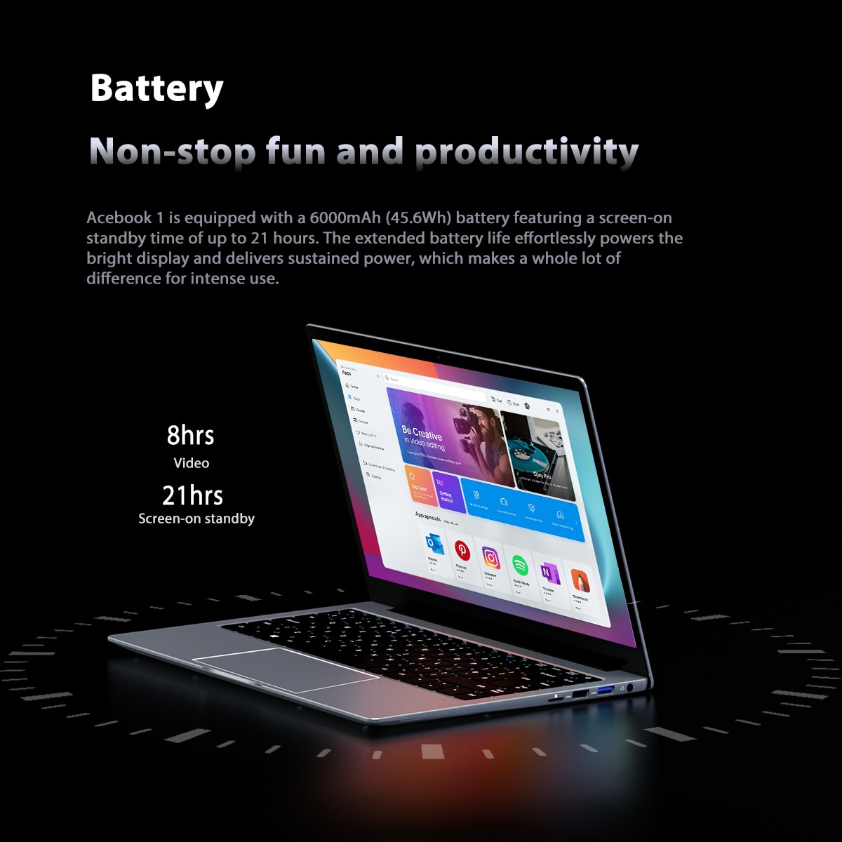Blackview Acebook 1 Laptop 14 inch FHD 1920*1080 Display Windows 10 128GB ROM Intel Gemini Lake N4120 Notebook Students Computer