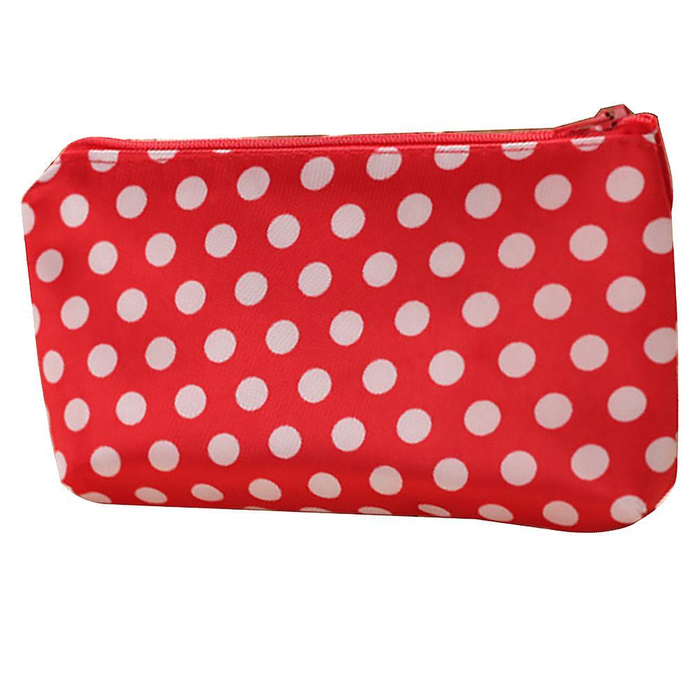 Portable Travel Cosmetic Bag Makeup Case Heart Dot Print Toiletry Wash Organizer