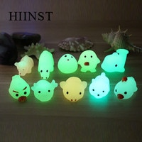 Hiinst stress relief toy LED light Squeeze Healing Flashing Puffer cartoon animal Toy Activity and Play Ball kids birthdays gift