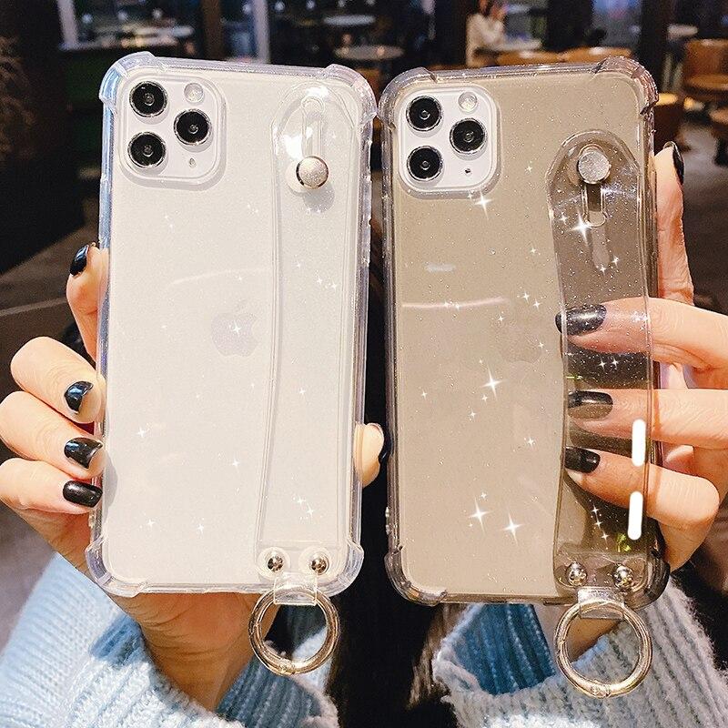 Funda de teléfono brillante con purpurina para iPhone 11 XS Max XR X 8 7 6 6S Plus transparente a prueba de golpes
