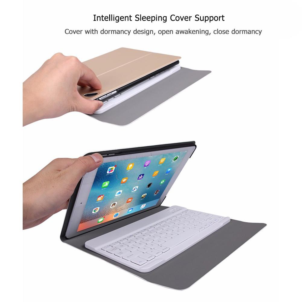 حافظة جلدية واقية بلوتوث متوافقة مع لوحة المفاتيح عالية الجودة لباد 10.2 2019 ماهرا تصنيع غطاء خلفي