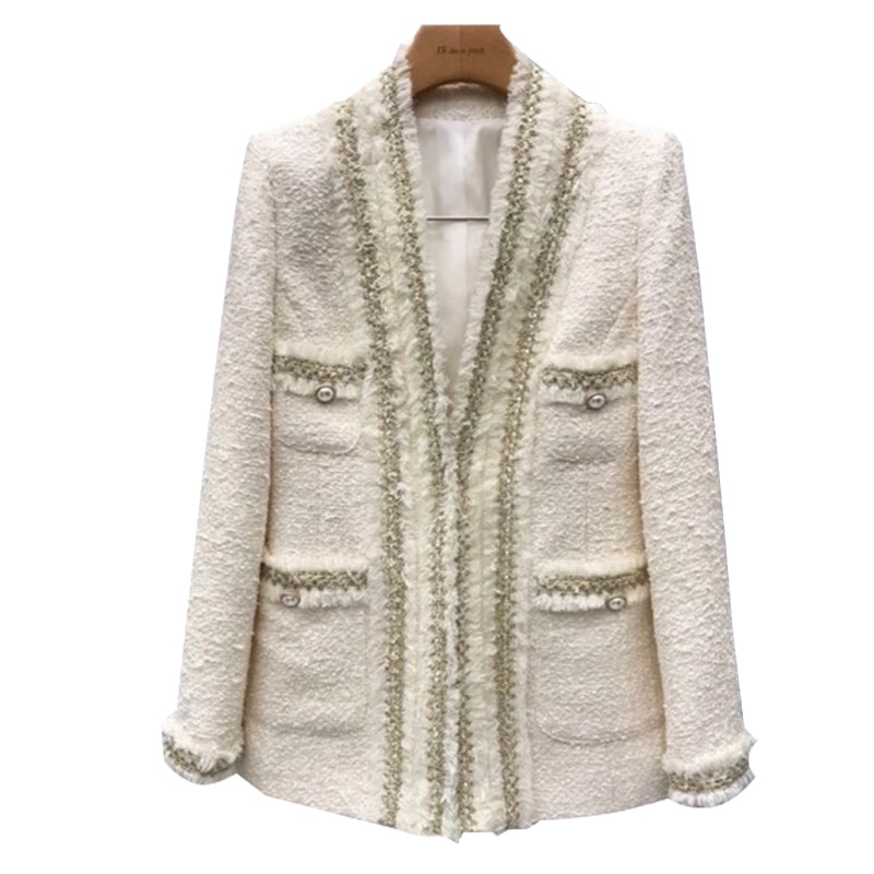 Spring and autumn fashion Women new Korean loose was thin wild small suit jacket quality tweed small