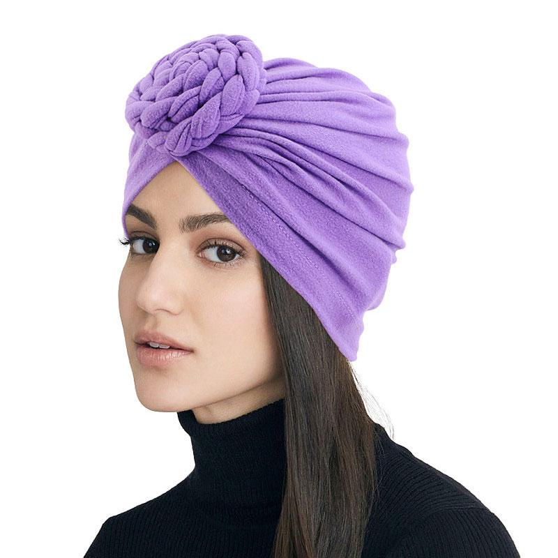 Твист плетеный тюрбан Кепка s для женщин эластичный хиджаб Кепка мусульманский головной платок головной убор Головной убор