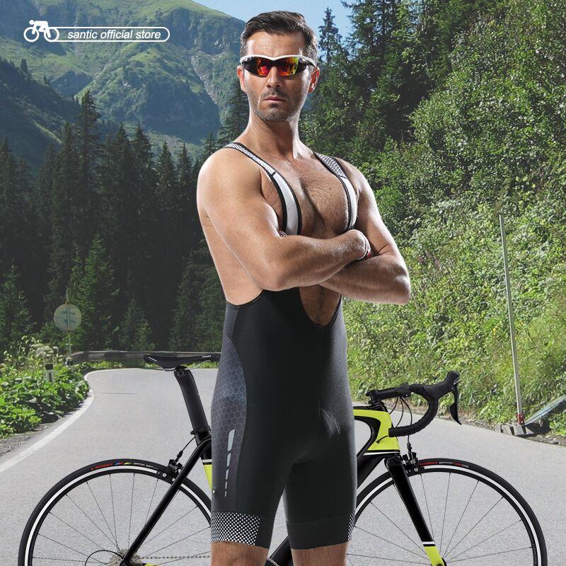 Santic زي ركوب الدراجات السراويل الرجال المهنية الدراجات ارتداء مرونة عالية تنفس النسيج المستوردة وسادة الدراجات السراويل