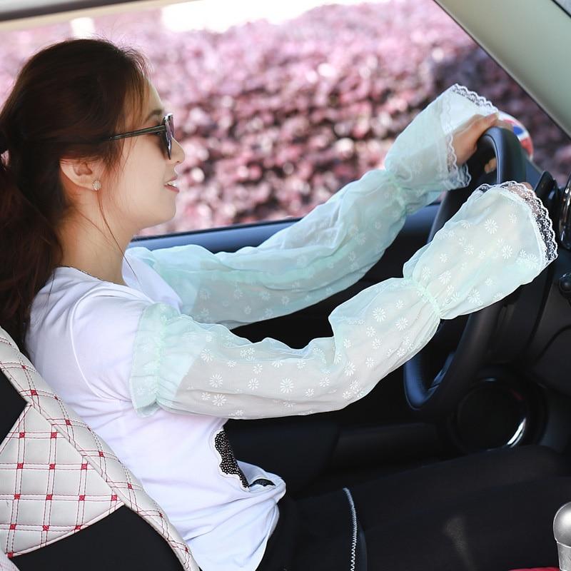 Lady Sunscreen Gloves Long Gloves Sun UV Hand Cover Lace Arm Sleeves for Women Girls Summer TT@88