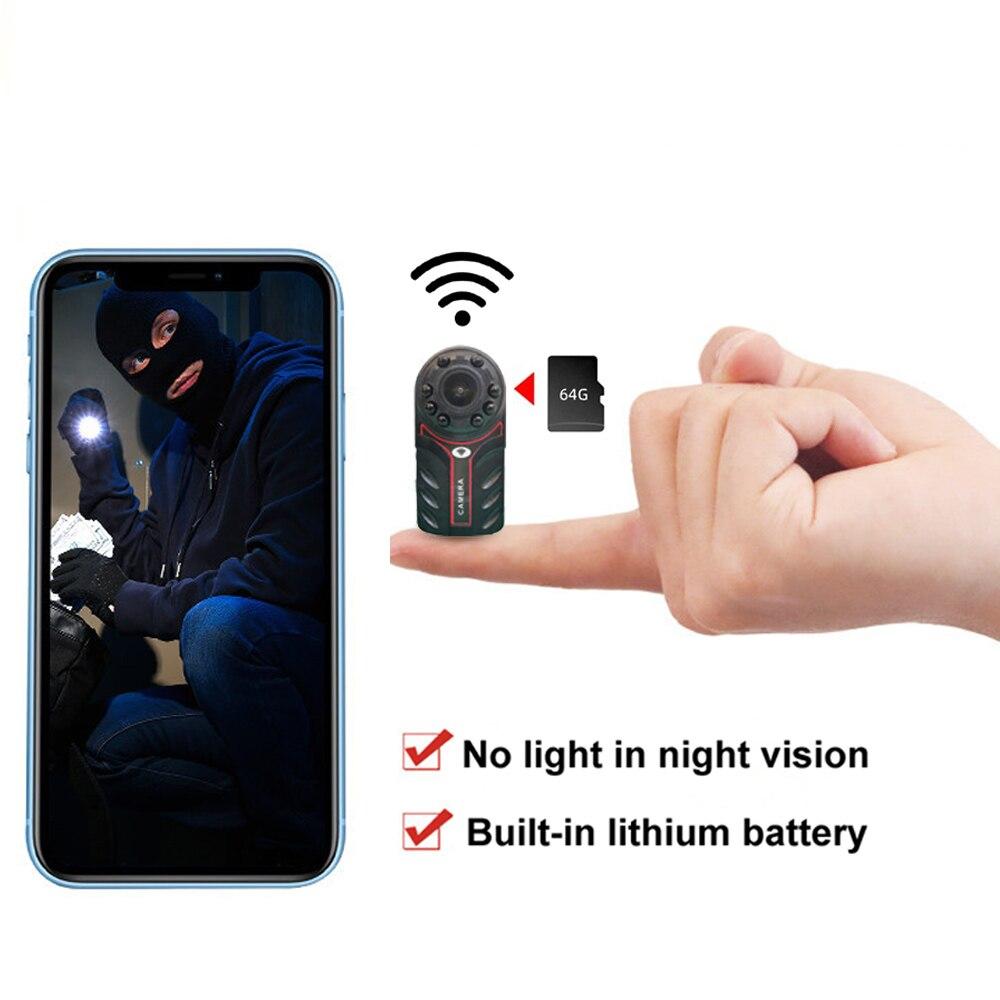 كاميرا صغيرة لاسلكية تعمل بالواي فاي كاميرا مراقبة ذكية لمراقبة المنزل كاميرا صغيرة داخلي للرؤية الليلية كشف الحركة الحيوانات الأليفة مراق...