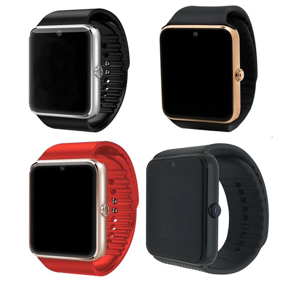 Gt08 relógio inteligente mais pulseira de metal bluetooth pulso smartwatch suporte sim tf cartão android ios relógio pedômetro multi-idiomas