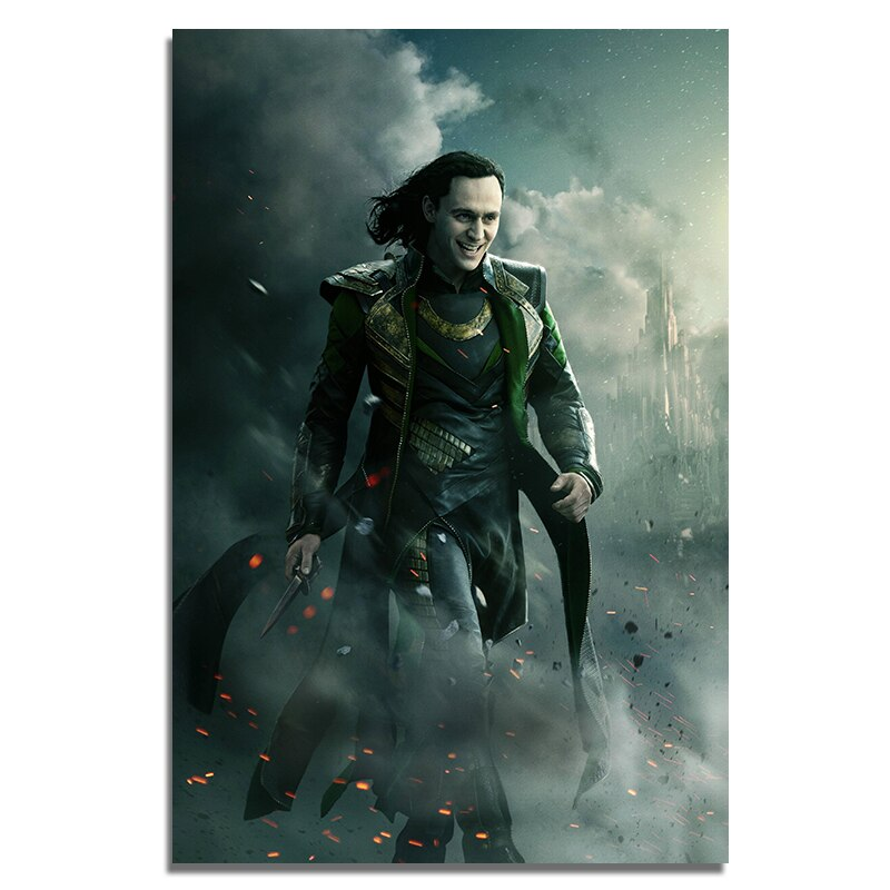 Loki affiches film soie imprime grand 16X24