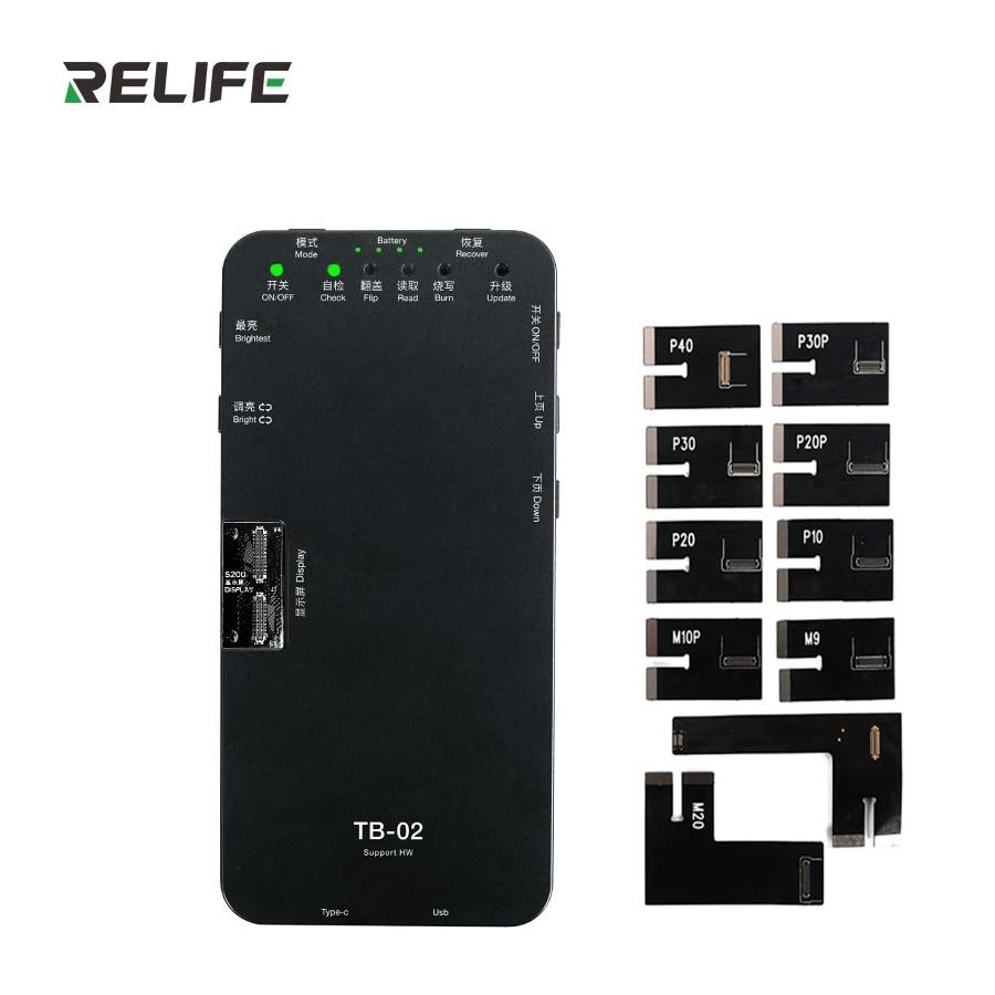 RELIFE TB-02 HW صندوق اختبار ل HW P10/P20/P20P/P30/P40/Mate9/Mate10 Pro/Mate20/Mate30 لوحة الشاشة شاشة تعمل باللمس ثلاثية الأبعاد اختبار إصلاح