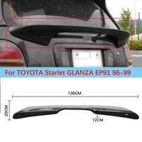 for toyota starlet glanza ep91 real carbon fiber spoiler rear middle wing 1996 1999 car accessories