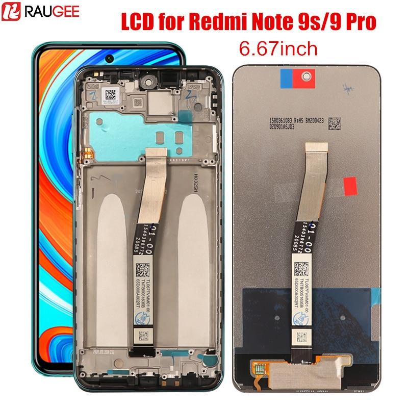 LCD para Redmi Nota 9 s LCD y pantalla táctil de reemplazo 10 puntos digitalizador para Xiaomi Redmi Nota 9 s 9 S Pro Max mundial pantalla