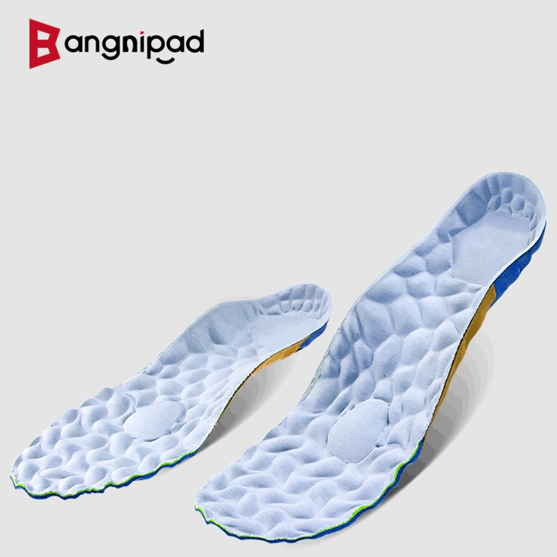 BANGNIPAD Summer Insoles Cool Breathable Perspiration Deodorant Shoes Pad Shock Absorption Foot Protection Sole Men and Women