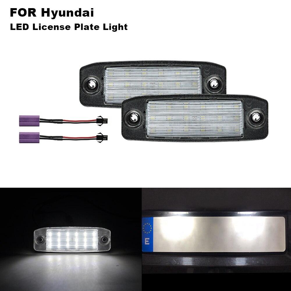 2pcs Canbus Led License Plate Lights Number For Hyunda Sonata 10 Yf 10my Gf 10 2010 2011 2012 2013 2014 2015 2016 2017 2018 2019 Signal Lamp Aliexpress