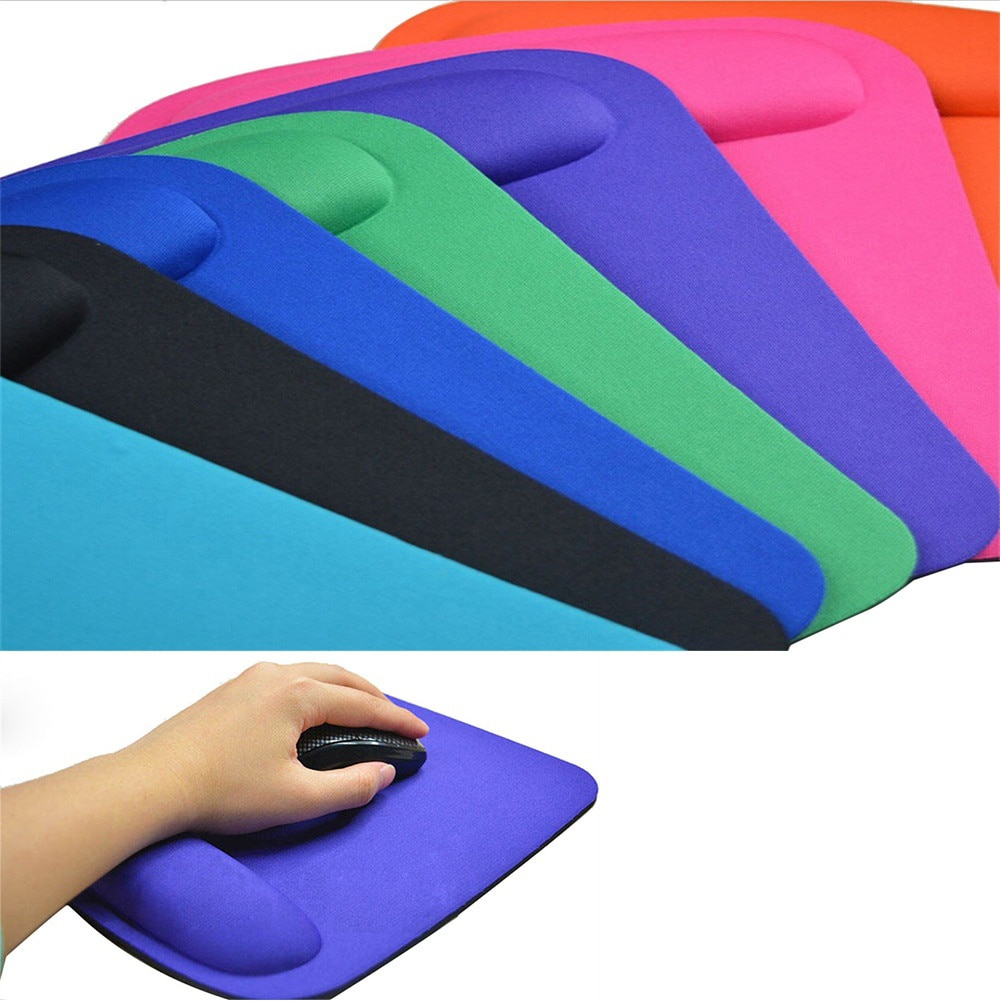 Non-slip Rubber Base Foam Rest Wrist Support Mouse Mat with Gel Rest for Notebook Computer