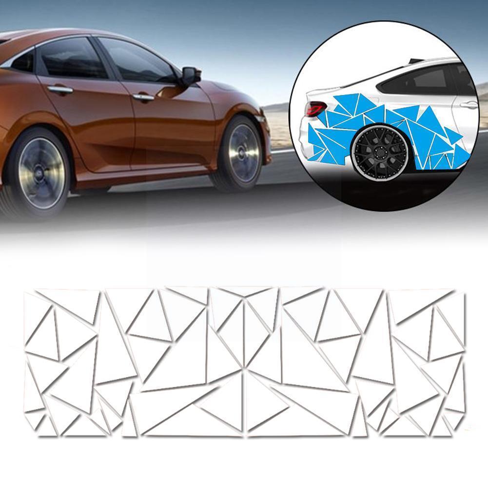 1 шт. автомобильные наклейки и наклейки, боковой корпус, автономные графические аксессуары, автомобильные треугольные P3R1
