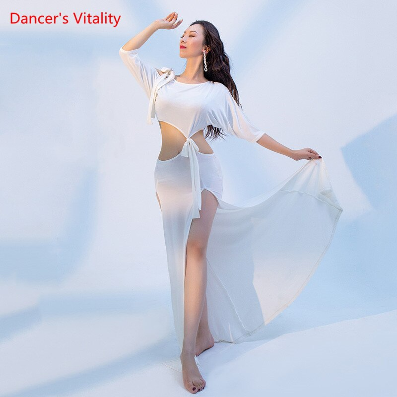 رقص شرقي نسائي ، ملابس تمرين ، قميص أنيق ، تنورة طويلة ، بدلة ، ملابس أداء احترافية