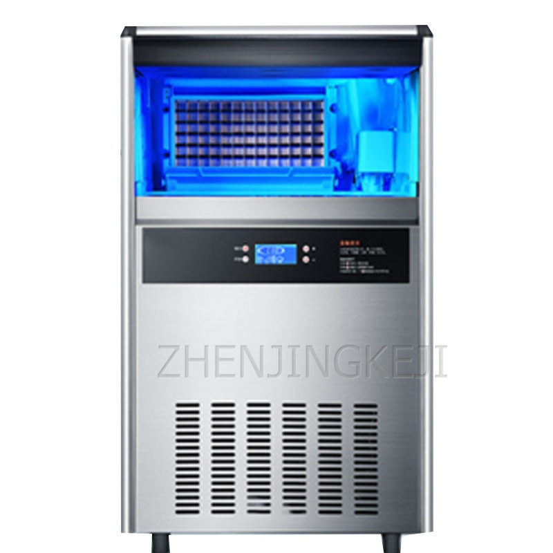 Fully Automatic Ice Maker All-In-One Small Ice Cube Home Bar KTV Cold Storage Milk Tea Shop Self-Cleaning Intelligent Equipment