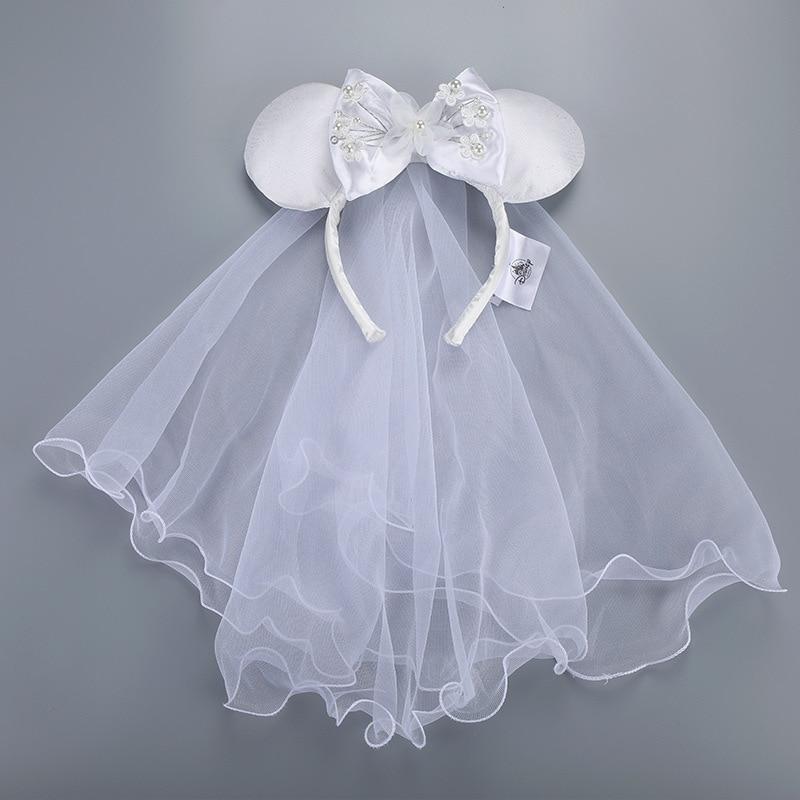 Свадебные сувениры для девочек на день рождения украшения вечерние свадебные сувениры Disney уши Минни Маус шапочки кавайные лента для волос ...