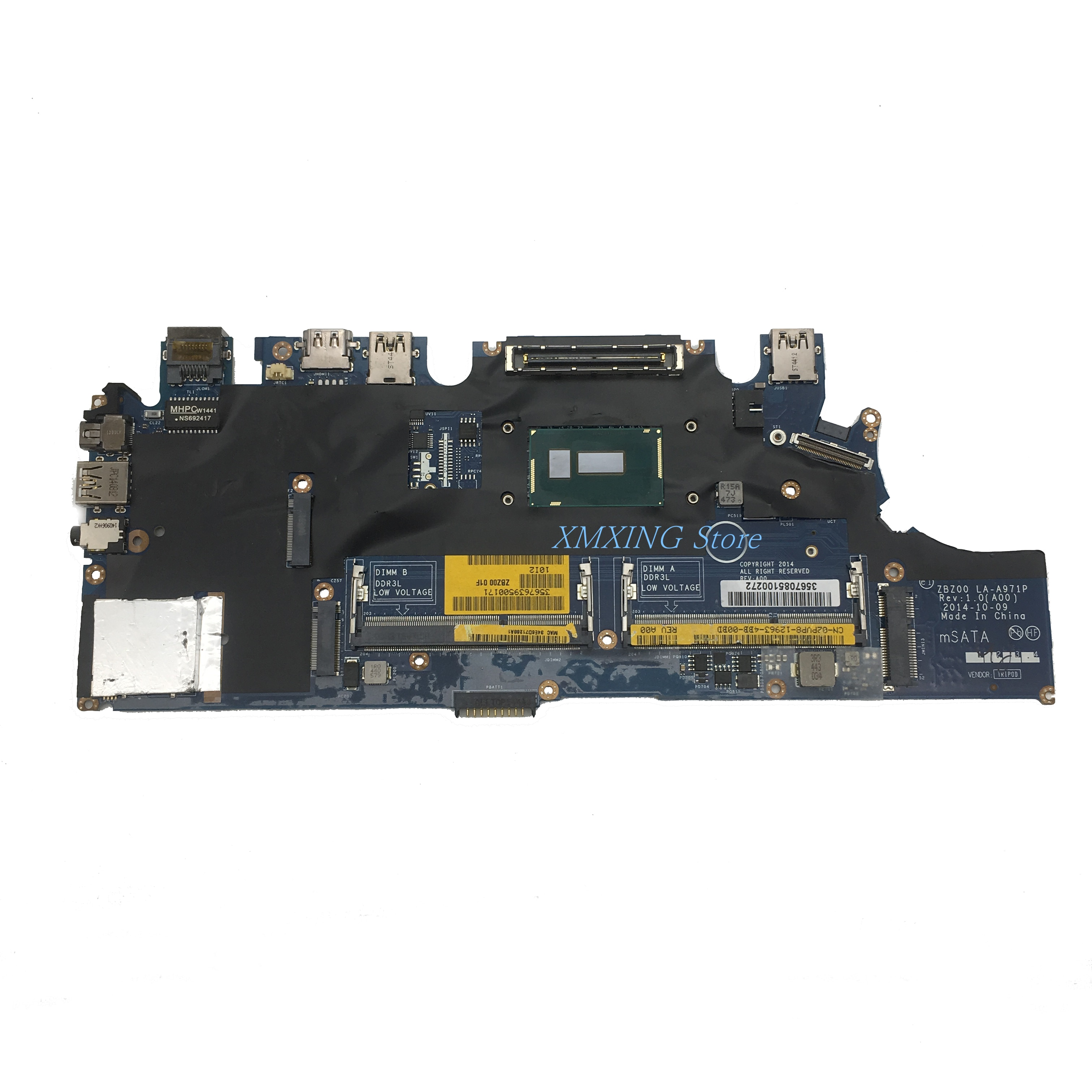 FULCOL لديل خط العرض E7250 اللوحة المحمول I3-5010U CPU LA-A971P ZBZ00 CN-02PVP8 02PVP8 2PVP8 اختبار 100% العمل