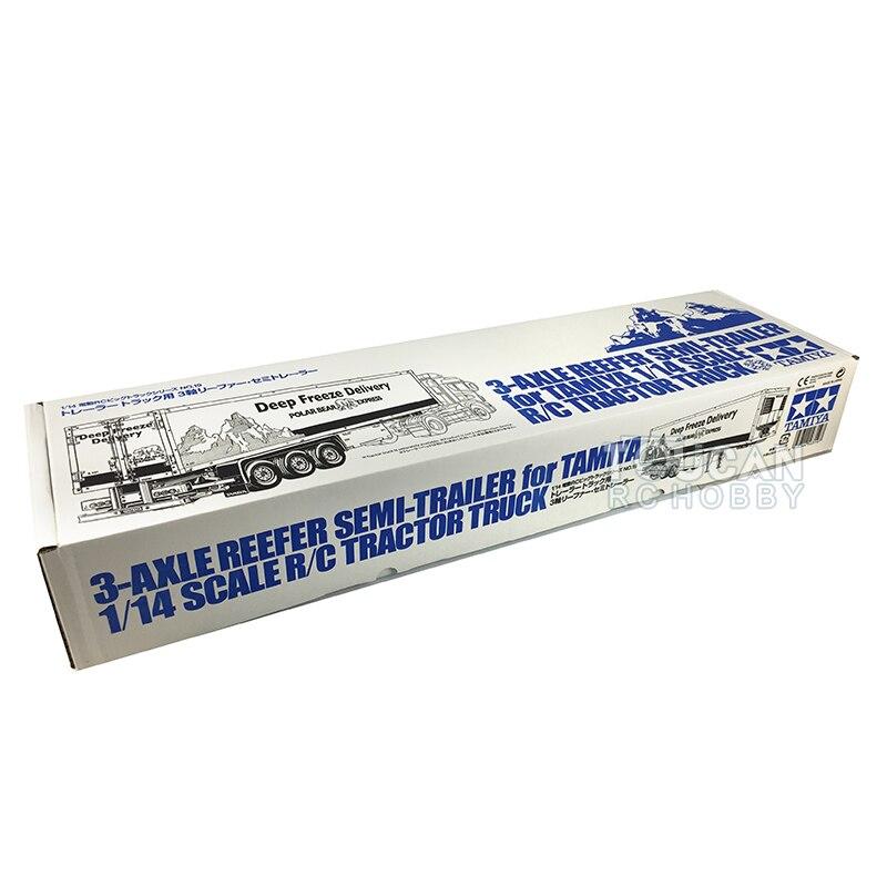 الولايات المتحدة الأسهم 1/14 RC جرار شاحنة 3-المحور المبردة تسليم مقطورة عدة لتقوم بها بنفسك TAMIYA 56319 TH18010-SMT4