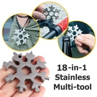18 in 1 snowflake tool card combination multifunctional snowflake screwdriver snowflake wrench tool snowflake tool card