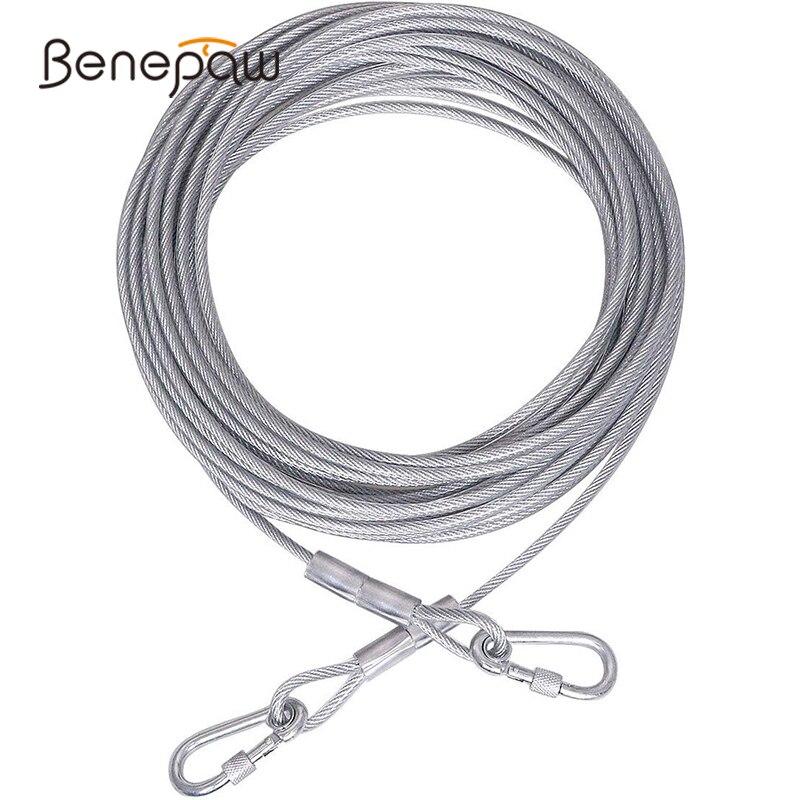 Benepaw, correa de alambre de acero para perros, correa reflectante para perros grandes de hasta 125kg