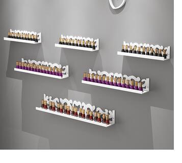 Nail polish shelf nail polish shelf cosmetics display shelf perfume shelf wall hanging mask shelf clapboard shelf