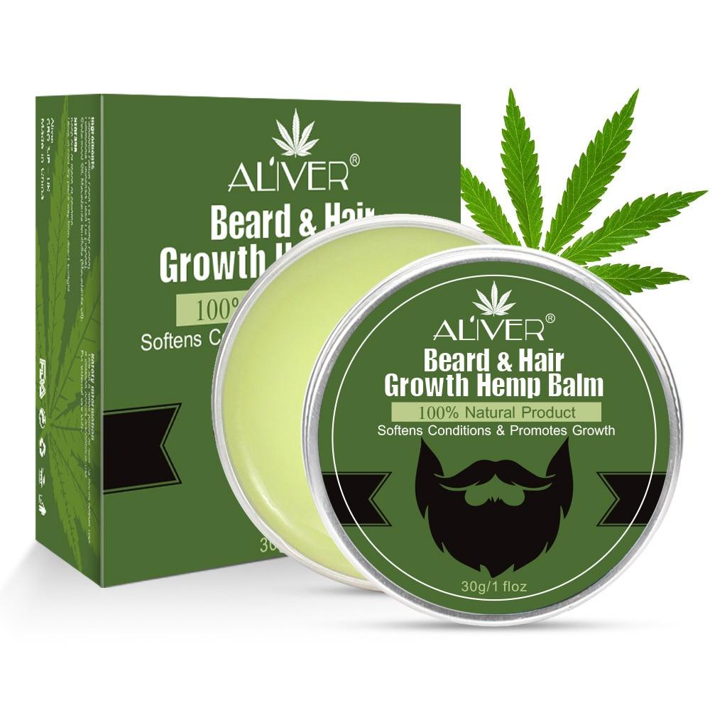 1pc Natural Hemp Beard Growth Oil Beard Balm Moustache Growth Serum Moisturizing Smoothing Beard Hair Growth Essence Hair Care недорого