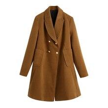 Die Neue Reine Farbe Lose frauen Mantel In Frühling 2021 Wird Stilvolle und Casual mit Medium Länge Doppel-Breasted Revers Mantel