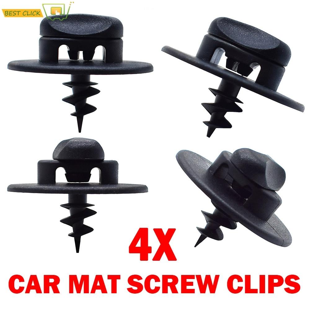 4Pcs Floor Mat Fixing Clips For VW Audi Seat Skoda Screw Oval Hole Turn Twist Lock Grip Buckle Mount Toggle Clamp Grip Carpet