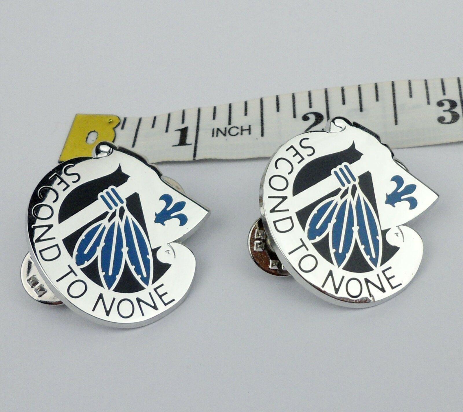 Par US ejército 2ª división de infantería sombrero PIN con distintivo segundo a ninguno insignia-251 tienda militar