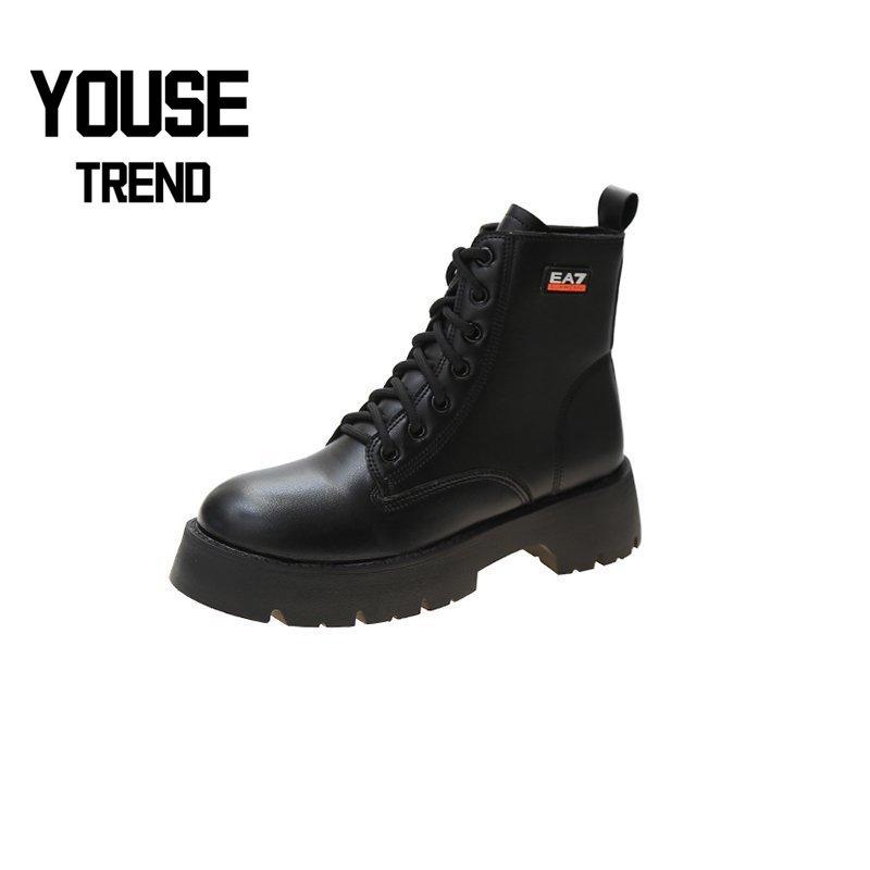 ¡Venta de fábrica! Botas de mujer, zapatos de otoño usables para mujer, botas con plataforma gótica, botas con plataforma alta, botas de cuero para mujer 2020