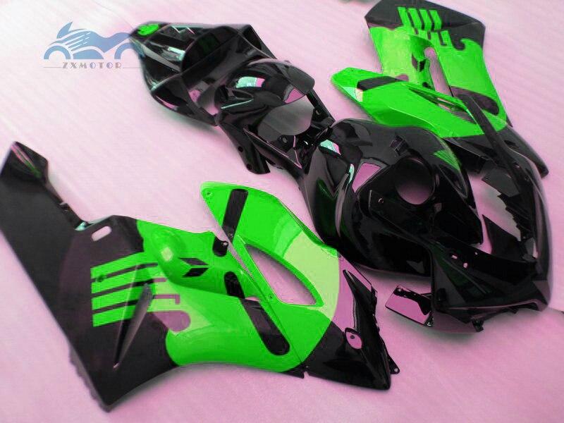 Kit de carpe dinjection adapté à Honda   Personnalisé, nouveau kit de carpe dinjection adapté à Honda CBR1000RR 2004 CBR 1000RR 04, vert noir, ABS kits de carpe de carrosserie KR37