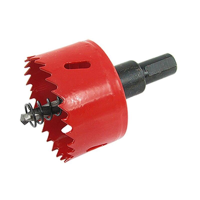 Sierra de perforación de torsión roja de 53 mm de diámetro con vástago hexagonal