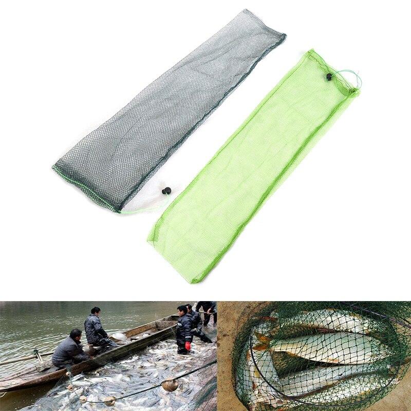 Color al azar trampa de red de pesca de Nylon de malla de reparto Simple bolsa de pescado abordar plegable herramientas de pesca