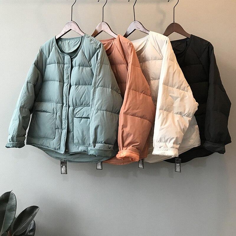 Chaqueta de plumón para mujer, chaqueta ultraligera, Parkas cálidas, Abrigos, Abrigos, otoño...