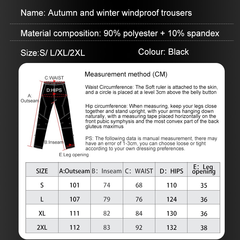Autumn Winter Men's Winderbreaker Trousers Outdoor Motorcycle Mtb Bicycle Cycling Hiking Running Pants Fleece Warm Hydrophobic enlarge