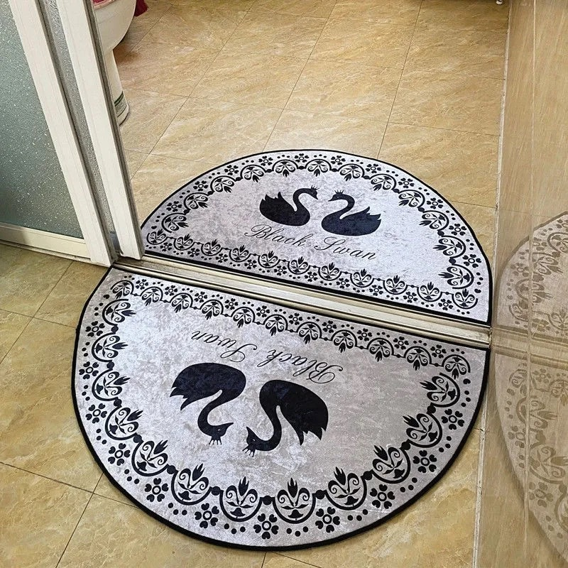 Входной коврик для ванной, абсорбирующие Нескользящие напольные коврики, коврики, золотые, алмазные, бархатные, современные, простые, полук...