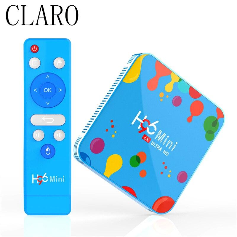 CLARO Newest H96 MINI H6 TV Box Android 9.0 Duble Wifi Bluetooth Quad Core Set Top Box 4G 32GB 6K HD