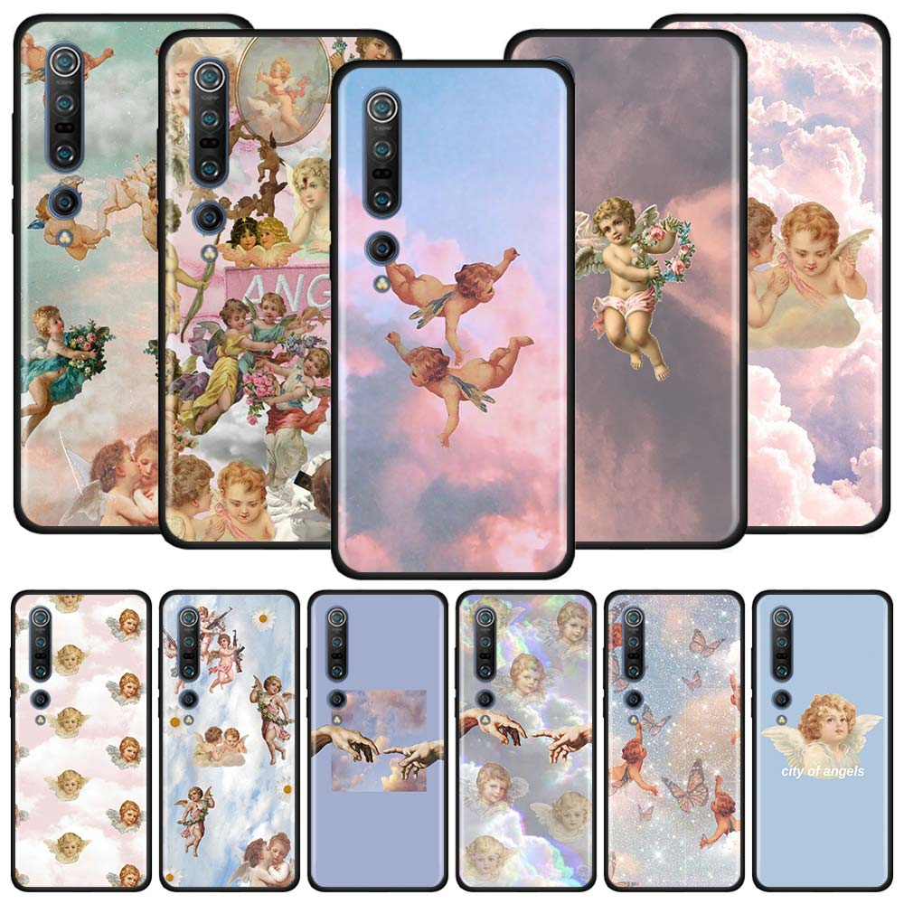 Fall Für Xiaomi Mi Poco X3 NFC M3 9T Hinweis 10 Lite 5G 9 Pro 10T CC9 CC9E Zurück Telefon Abdeckung Weiche Shell Capa Engel Baby Amor Coque