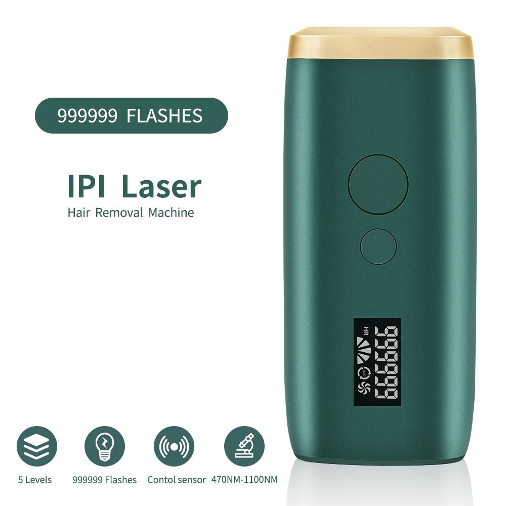 999999 Flashes depiladora láser IPL máquina de depilación permanente depiladora cara cuerpo pierna axila Trimmer fotodepiladora para mujeres