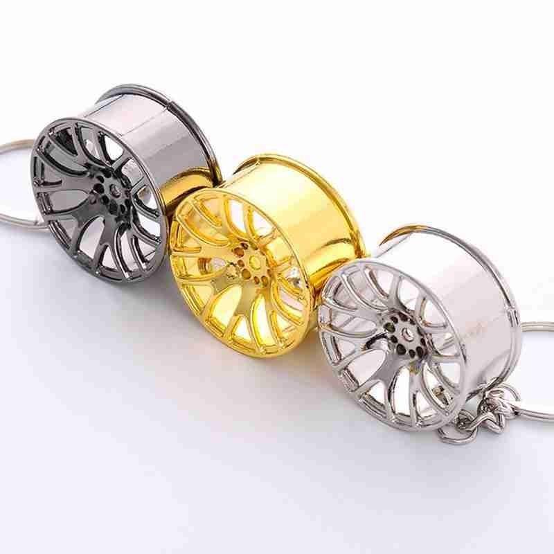 Fit Wheel Rim Keychain Creative Auto Part Car Keyring Key Chain Ring Key Fob Key Ring Car Interior Accessories Key Rings
