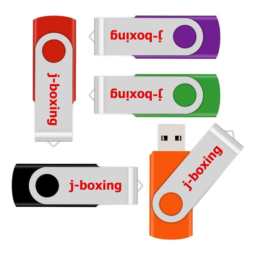 J-boxing Metal 128GB USB Flash Rotating 128 gb Thumb Pen Drive High Capacity Memory Storage for Computer Mac Tablets Multicolors