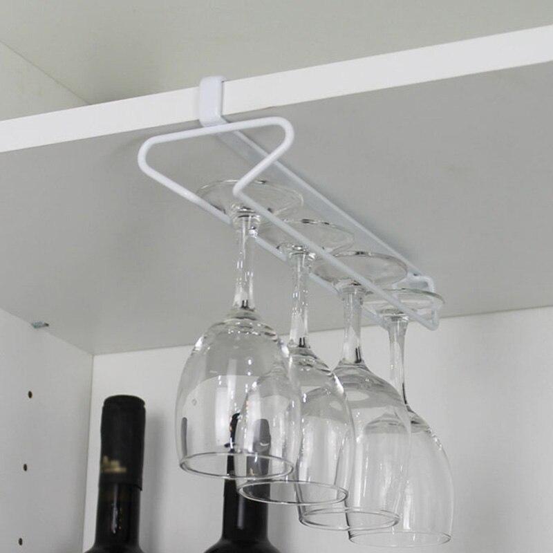Перевернутая полка для хранения посуды, держатель для Винных Бокалов, подвесная железная стойка, бокал для шампанского под шкафом, с одной/двумя рядами рамок