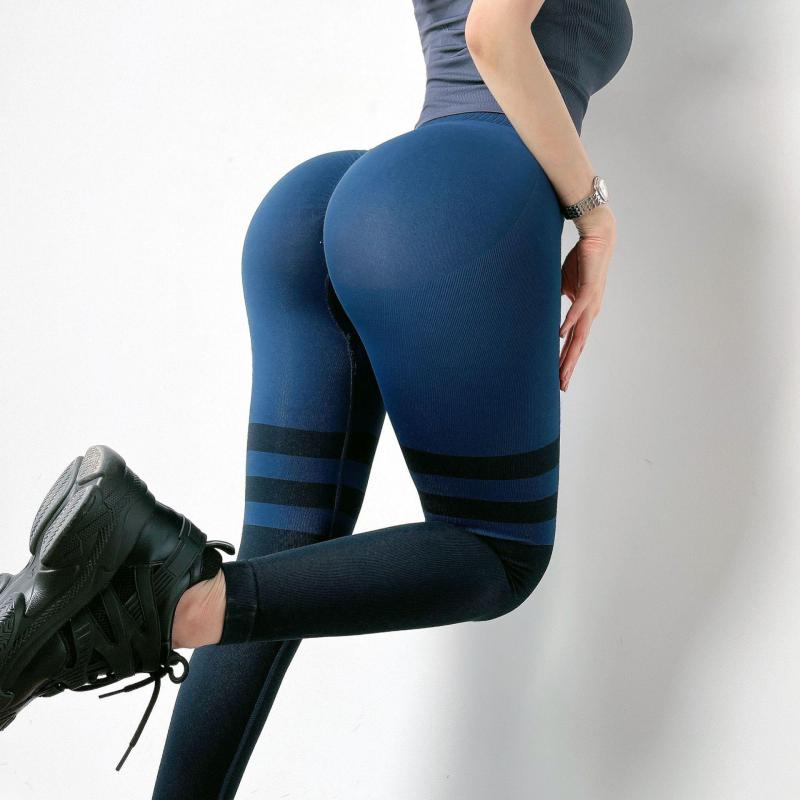 New High-waist Hip-lifting Fitness Women's Leggings Sexy Stretch Sports Pants Quick-drying Running B