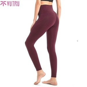 VUTRU Yoga Pants Women Seamless Leggings For Fitness Nylon High Waist Long Pants Women Hip Push UP Tights Women Gym Clothing New